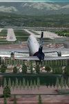 "747-800 АК ""Аэрофлот-Норд"" посадка в аэропорту Сочи."