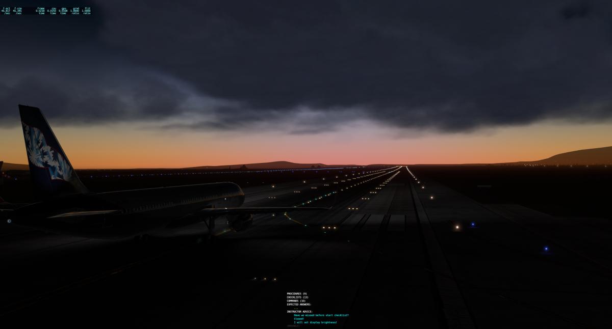 А321   Позолотим киль на закате